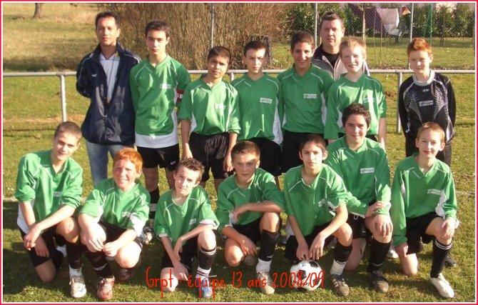 Grpt équipe 13 ans 08-09