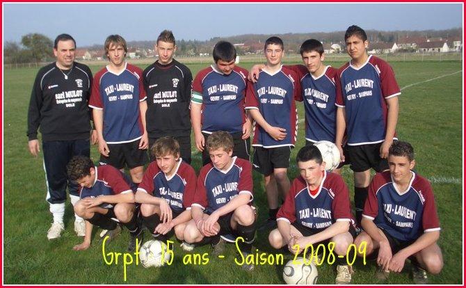 Grpt équipe 15 ans 08-09
