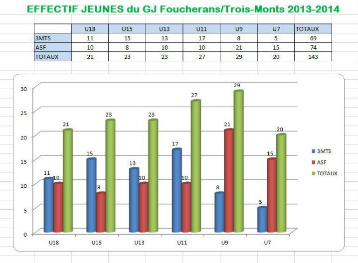 Effectif GJ saison 2013-14