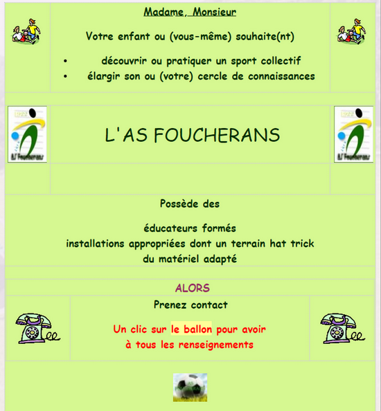 Page renseignements